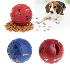 Pet Toys Food Dispenser Play Ball Bone Training Chew Rotate Switch For Puppy Dog