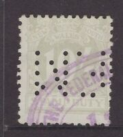 NSW 10/- Stamp Duty with private perfin