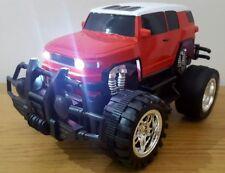 MONSTER TRUCK Cross Country SUV Telecomando Auto 1:18 LED Velocità Veloce rosso blu