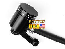 Universal Black Brake Fluid Reservoir For Suzuki GSXR600 750 1000 1300 Bandit