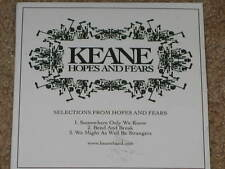 KEANE - Selections From Hopes And Fears - 3 Track PROMO CD! SEALED! RARE! OOP!