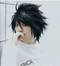 Popular Death Note L Black Short Stylish Anime Cosplay Wig free shipping w@##