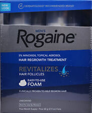 Rogaine for Men Hair Regrowth 5% Minoxidil Topical Foam, 4 Months Exp 2019