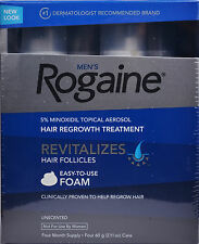 Rogaine for Men Hair Regrowth 5% Minoxidil Topical Foam, 4 Months Exp 01/2019