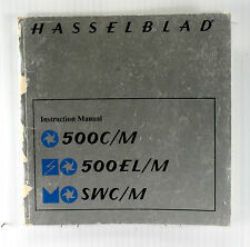 Orig. Hasselblad 500 C/M, 500 EL/M, and SWC/M Instruction Book - printed in 1985