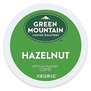 Green Mountain Hazelnut Coffee 24 to 144 Count Keurig K cups Pick Any Size