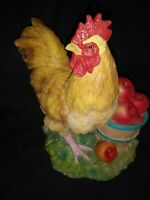 "LENOX PORCELAIN ROOSTER COUNTRY GENTLEMAN FIGURINE 7"" TALL"