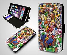Super Mario Bros Luigi Collage Nintendo Retro Game Boy Leather Phone Case Cover
