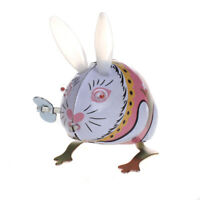 TIN TOY WIND UP clockwork BUNNY RABBIT Vintage Retro Easter Gift Collectible