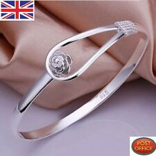 special price solid 925sterling silver jewellery rose bracelets bangle xmas gift