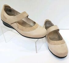 Drew Genoa Mary Jane Mule Comfort Orthopedic Shoes Tan Taupe Womens 9 WW Wide