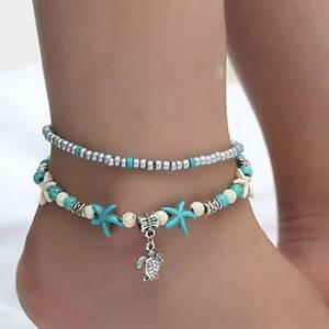 Alloy Turtle Anklet Bohemian Accessories Beaded Ladies Boho Ankle Bracelet CB