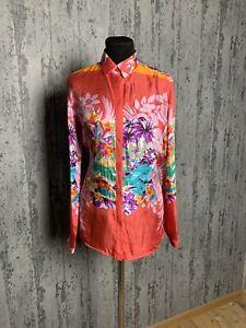 MINT! ETRO Women`s Red Floral Silk Shirt Size 42