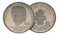 2016 Trump Dollar 1 oz .999 Silver BU Type I Round USA Bullion $25 Norfed Coin