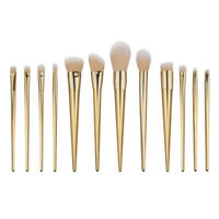 12Pcs Makeup Brushes Powder Foundation Cosmetics Blusher Brushes Set Gold Bursh