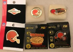 Set of 6 Cleveland Browns Logo Collectors Pins BLOWOUT PRICE