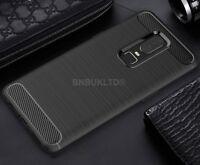 For OnePlus 6 Carbon Fibre Gel Case Cover Shockproof Ultra Slim