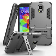 Galaxy S5 Case, [STAND FEATURE] Hybrid Armor Case for Samsung Galaxy S5 Gunmetal