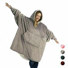 Hooded Wearable Blanket Robe Cuddle Snuggle Hoodie Plush Coat warm UK stock