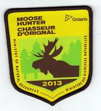 2013 ONTARIO MNR MOOSE HUNTER PATCH-MICHIGAN DNR DEER-BEAR-ELK-CREST-BADGE-FISH