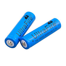 2pcs UltraFire Blue 3000mAh 18650 Rechargeable Li-ion Battery Batteries From USA