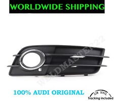 Audi A4 S4 B8 08-12 Front Bumper Fog Light Grill + Chrome Ring Right Genuine New