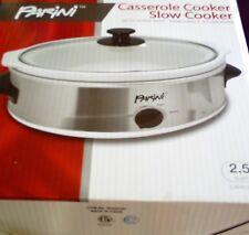 Parini Casserole/Slow Cooker, 2.5Qt, Brand New