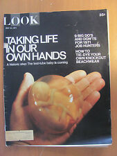 LOOK MAGAZINE - TAKING LIFE IN OUR OWN HANDS - HOW TO TIE-DYE MAY 18, 1971