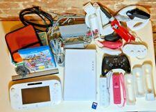 Nintendo Wii U White Console Bundle With Gamepad Remotes Nunchucks Games cords