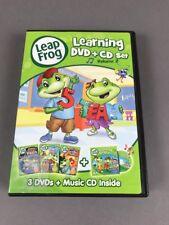 Leap Frog Learning 3 DVD Set Educational Math Words Reading BONUS Compact Disc