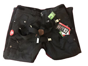 New 686 Smarty Cargo 3 in 1 Pant Men's - XX-Large / Black + Cabelas Suspenders