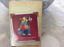 Hallmark 2005 MY THIRD 3RD CHRISTMAS Child's Age Ornament Boy Superhero Dog
