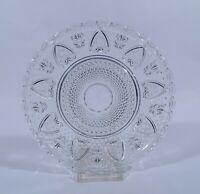 Glas Pressglas Teller Dessertteller halbhoch Dm 20 cm Motiv Herzen Stern um 1930