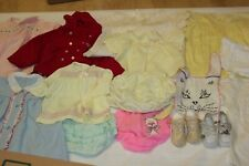 Vintage Lot Of Girl Baby Clothes Dresses, Shoes, Coat, Ruffles Panties ~ 1950's