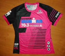 Safetti IRONMAN Cartagena Colombia Women's Pink Black Sponsor Promo Tee Size L