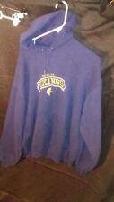 Jerzees NuBlend Adult Hoodie Sweatshirt Cadillac Vikings (Michigan) Blue sz L