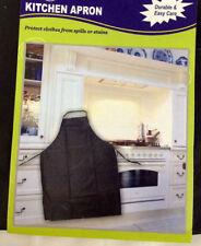 Apron Pocket Waterproof Waiter Chef Kitchen Cooking Cafe Black Vinil