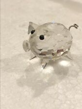 Swarovski Figurine Pig Small Art 7657 NR 027 000