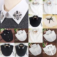 Lady Retro Detachable Faux Fake Lapel Shirt Collar Necklace Removable Choker Hot