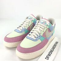 the latest efb55 c8220 Nike Air Force 1 Low 07 QS Easter Men s 10.5 Patchwork Blue Pink AH8462-400