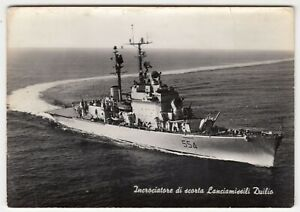 Shipping; Italian Helicopter Cruiser Caio Duilio RP PPC, Unused