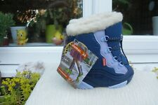 LOVELY Pair Childs  Demar  Blue Real Lambs Wool Boots Size 24