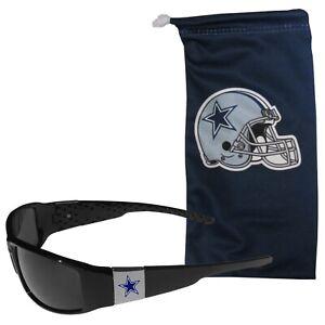 NFL DALLAS COWBOYS DESIGNER SUNGLASSES AND BAG SET MICROFIBER BAG NEW