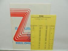 1976 Azusa Motorcycle Sprockets Parts & Accessories Catalog Price List L11526