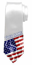 UNITED STATES USA FLAG PERSONALISED NECK TIE *ANY NAME/TEXT *NAMED MEN'S GIFT*