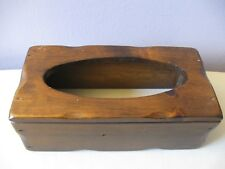 VINTAGE SOLID WOODEN TISSUE BOX COVER