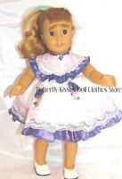 """Lace & Pearls Purple & Lavender Easter Dress 18""""  Doll Clothes Fit American Girl"""