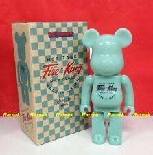 Medicom 2014 Be@rbrick Toy Expo Fire King 400% Milk Glass Jade Green Bearbrick