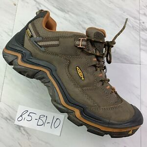 KEEN Durand Low Waterproof Hiking Shoe Cascade Brown Men's (Size 8.5) B1-10