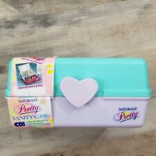 Vintage Naturally Pretty Make Up Case Heart Cosmetic Luggage Mirror Caboodle NOS